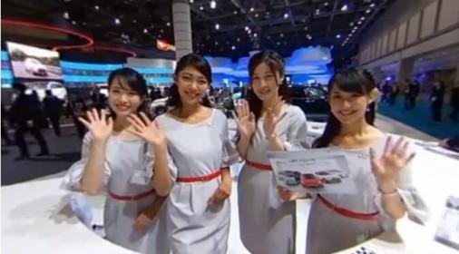 【美女】带您参观年度日本东京车展盛况