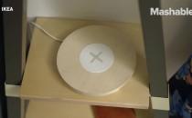 宜家推出无线充电器一体化家具