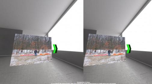 webvr状态下多图可切换相册及投影仪效果