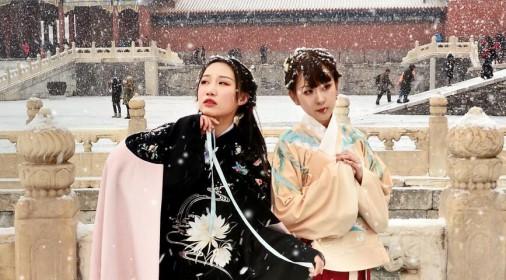 北京故宫-古装美女VR雪景高清漫游