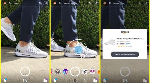 Snapchat的AR相机让您快速在亚马逊上购买产品